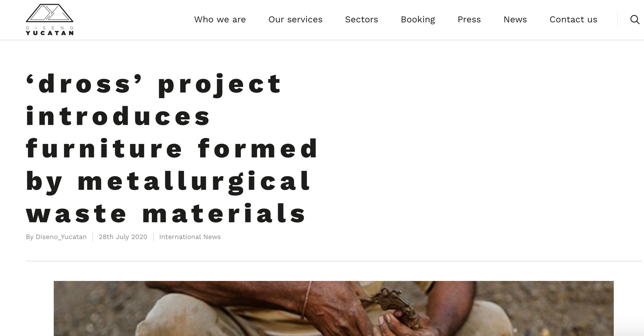 'dross' project introuduces furniture formed by metallurgical waste materials