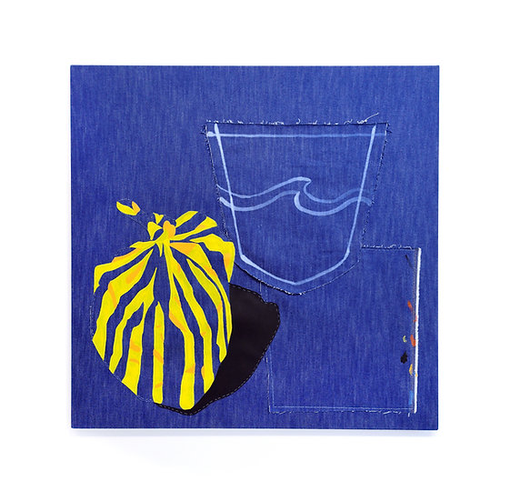'Untitled (Denim Bin Bag)' by Hannah Tilson