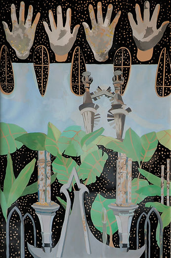 Xilitla by emerging artist Kitty Rice. Work on paper.