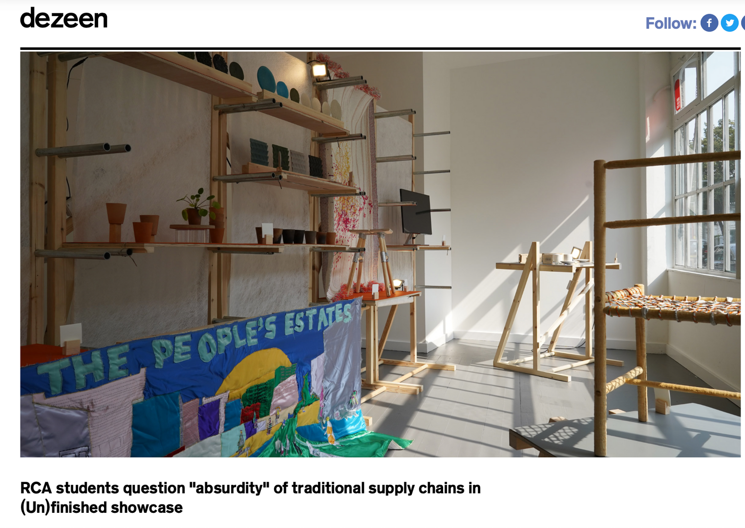 Dazeen - RCA students question 'absurdity' of traditional supply chian in (un)finished showcase