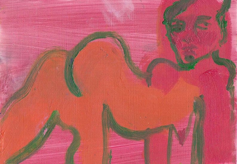 'Woman in Pink and Green' by Jessica Jane Charleston