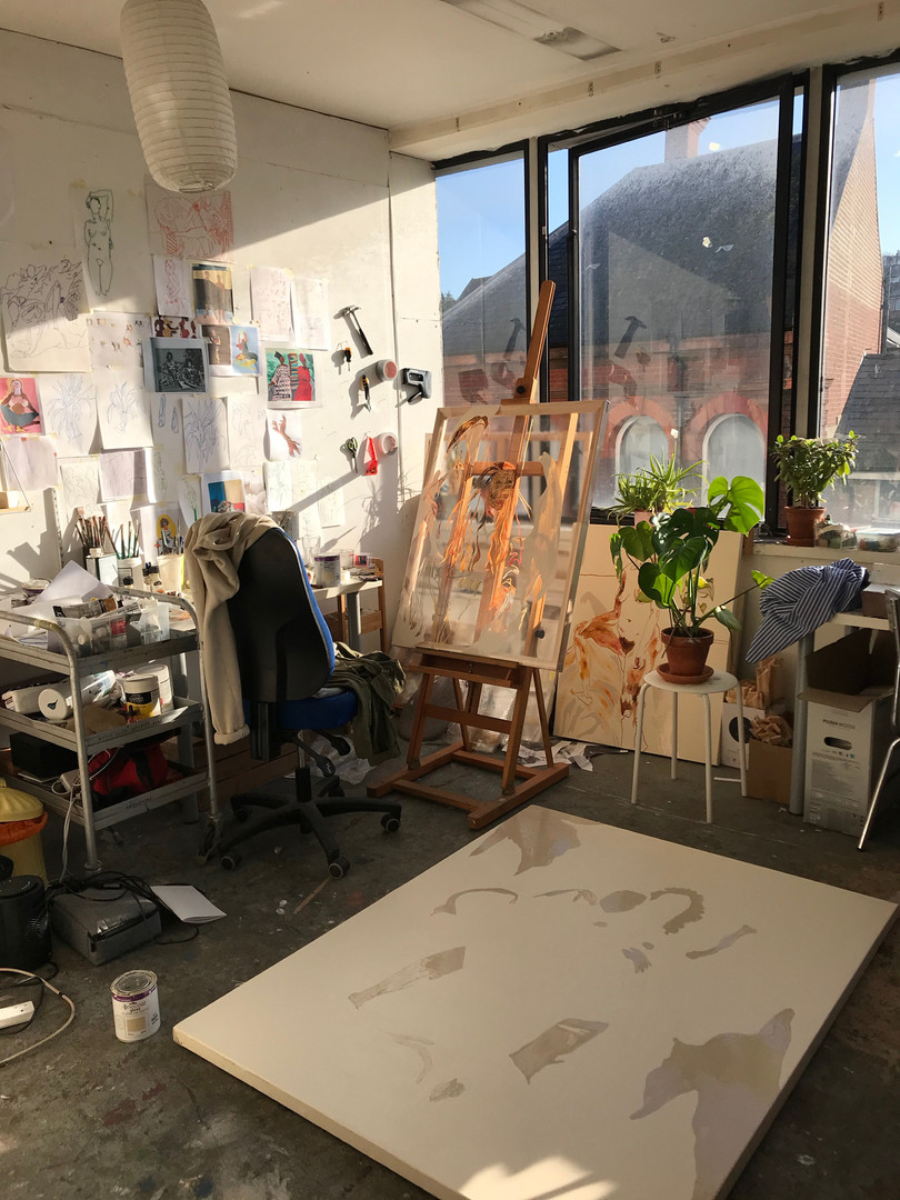 Miranda in her studio