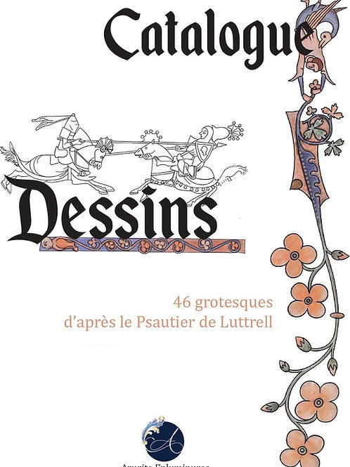 Catalogue de dessins d'après le Psautier de Luttrell