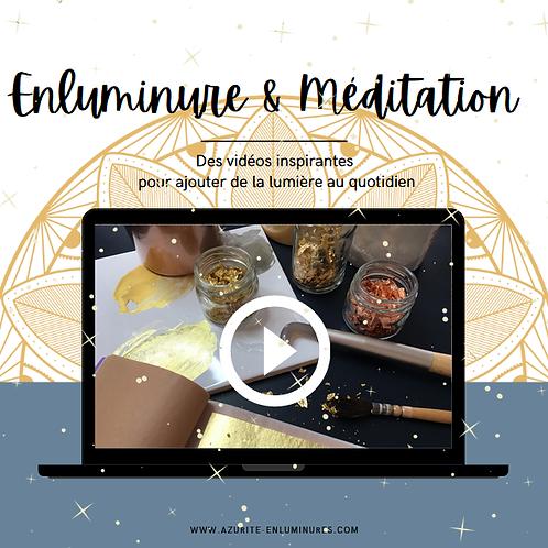 Enluminure & Méditation - Pose de la feuille d'or à la mixtion