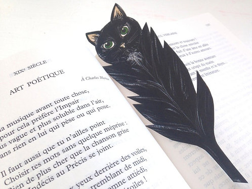 Marque-page - Chat