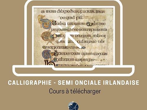 Cours vidéo - Calligraphie Semi Onciale Irlandaise