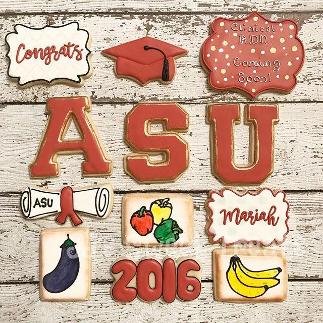 Congratulations, Mariah!  ASU graduate! 🎓 _____________#customcookies #decoratedcookies #decorateds