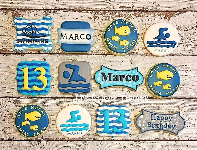 Happy Birthday, Marco!  Swim theme for his 13th birthday