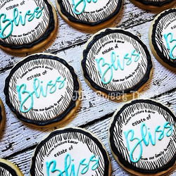 Logo cookies for Estate of Bliss