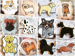 Happy #nationaldogday! ___________#customcookies #decoratedcookies #decoratedsugarcookies #sugarcook