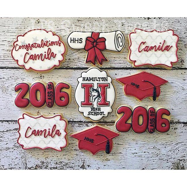 Congratulations Hamilton High School Class of 2016! _#customcookies #decoratedcookies #decoratedsuga