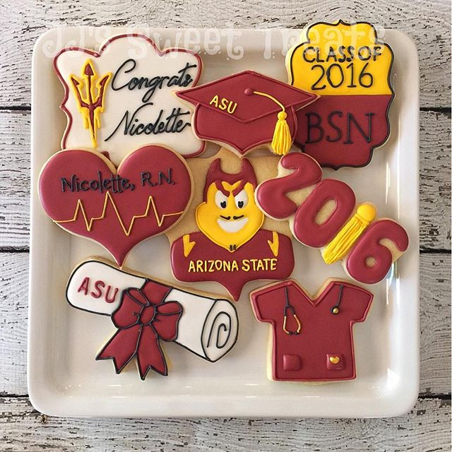 Busy weekend of graduation cookies!  Congrats  to Nicolette - ASU grad and Registered Nurse!  Thank