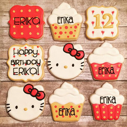 Happy Birthday, Erika!  She loves #hellokitty!  Red and gold are her favorite colors
