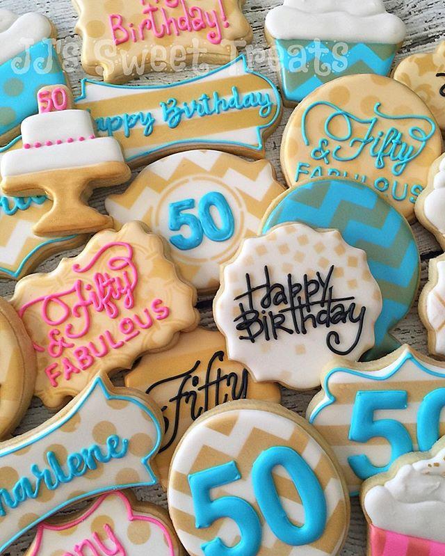 Happy Birthday, Char! #fiftyandfabulous ! 😘  #customcookies #decoratedcookies #decoratedsugarcookie