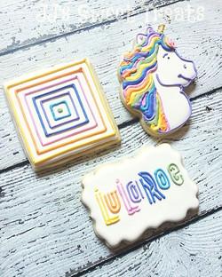 #lularoe cookies! 🦄 ___________#customcookies #decoratedcookies #decoratedsugarcookies #sugarcookie