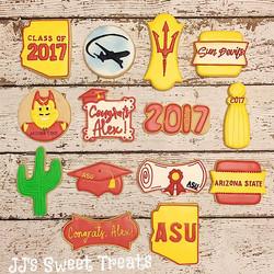 More #ASU #graduationcookies!  Congrats, Alex!  Lori, thank you once again! 😘___________#customcook