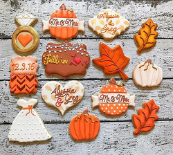 Loved this _Fall In Love_ Bridal Shower theme!  Congrats to Alyssia and Greg!  Banner pumpkin cutter