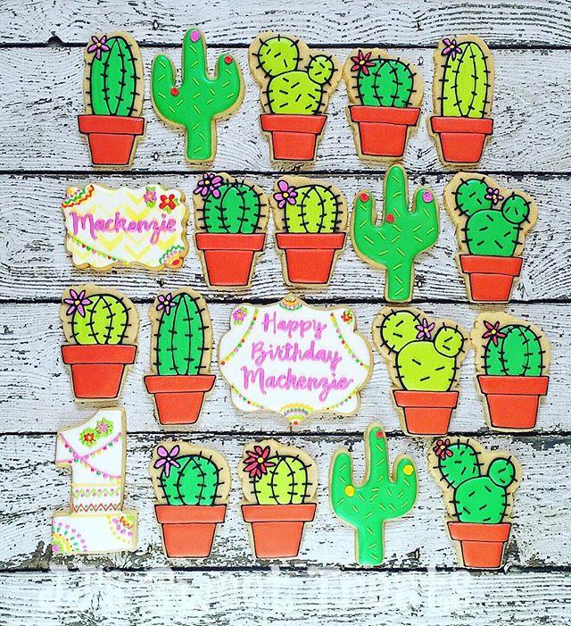 Happy 1st Birthday, Mackenzie!  Thanks for the #cacti inspiration, _dekoekenbakkers! 🌵💚 Thank you,