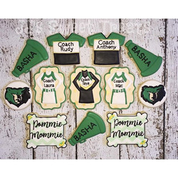 Thank you cookies for the Basha High School Pom and Cheer Coaches