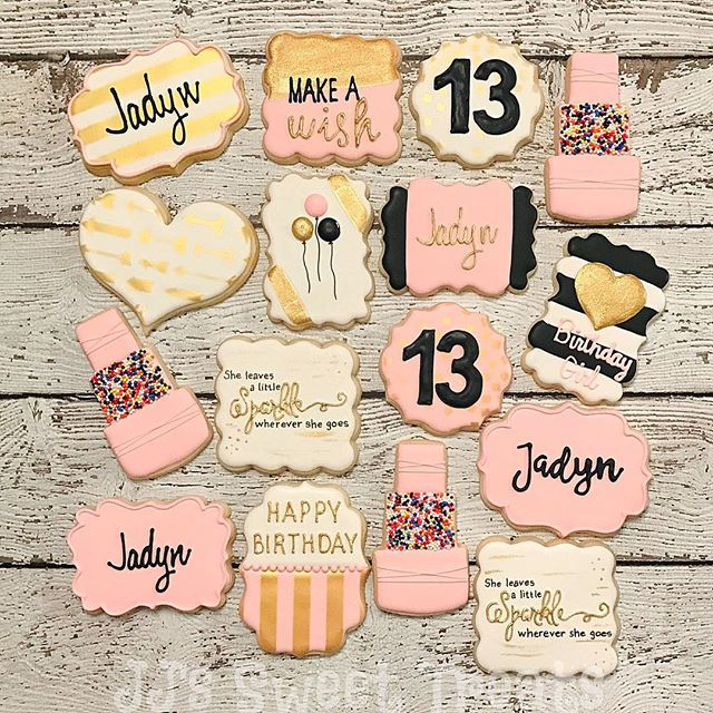 Happy 13th Birthday, Jadyn!  Design inspiration from the amazing _natsweets