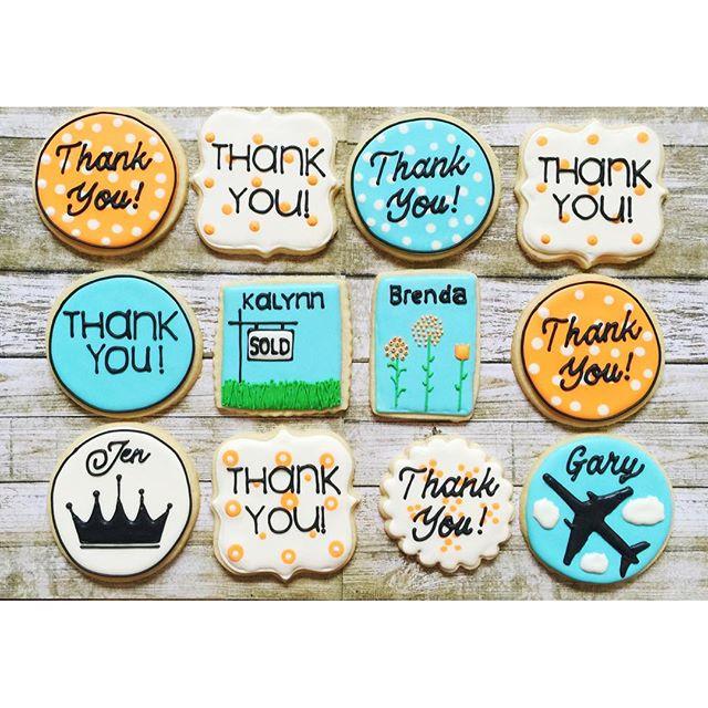 #thankyoucookies #customcookies #decoratedcookies #royalicing #edibleart #sugarcookies #cookiesofins
