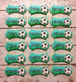 #soccer themed #favors for a #Legacy team! ⚽️️ #customcookies #decoratedcookies #decoratedsugarcooki
