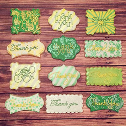 Thank you cookies requested in green and yellow