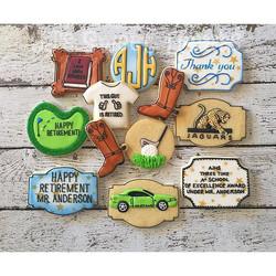 Happy Retirement, Principal Anderson! _#customcookies #decoratedcookies #decoratedsugarcookies #suga