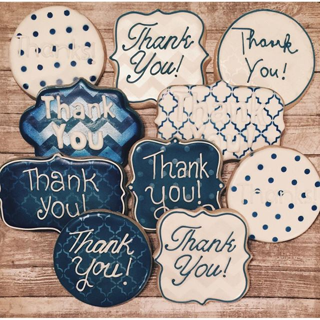 #thankyoucookies requested in navy and white