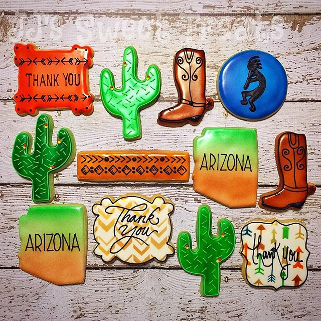 A Thank You gift from Arizona! _#customcookies #decoratedcookies #decoratedsugarcookies #sugarcookie