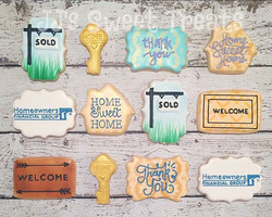 Homeowners Financial Group thank you cookies, #santafe style