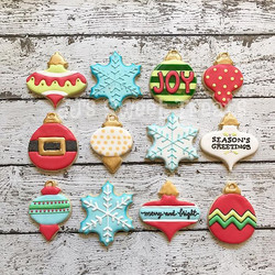 Christmas ornament variety theme for a cookie exchange party
