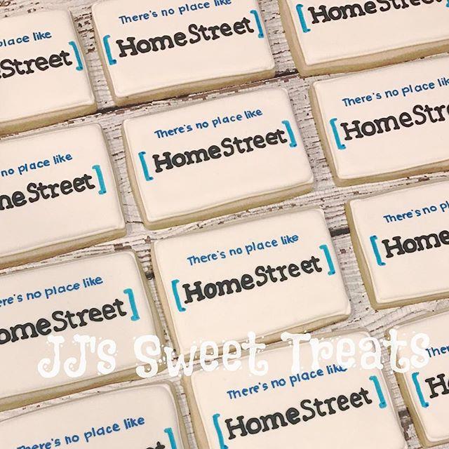 Logo cookies for HomeStreet's grand opening in #scottsdale! ___________#customcookies #decoratedcook