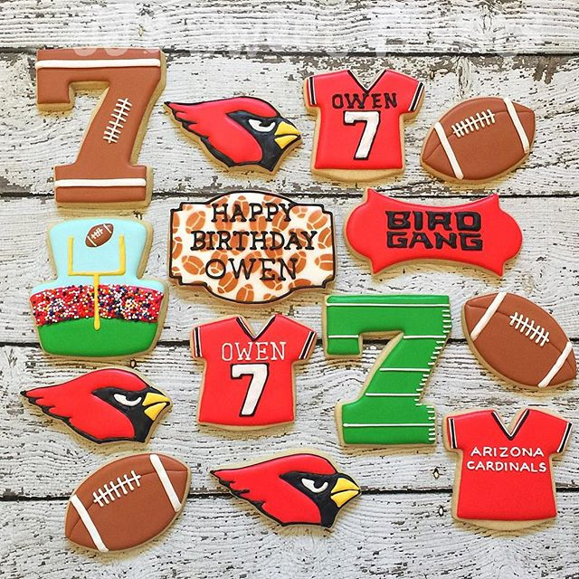 Happy 7th Birthday, Owen!  Loved working on this #arizonacardinals theme