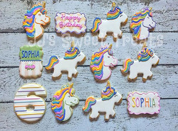 Happy 6th Birthday, Sophia! 🦄🦄🦄 #customcookies #decoratedcookies #decoratedsugarcookies #sugarcoo