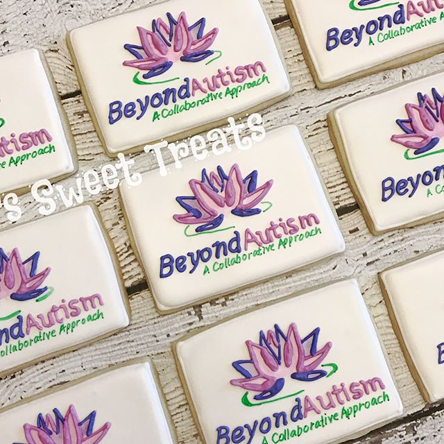 Beyond Autism logo cookies