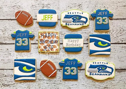 Been behind in posting due to our family moving so I'm playing a little catch up.  #Seahawkscookies