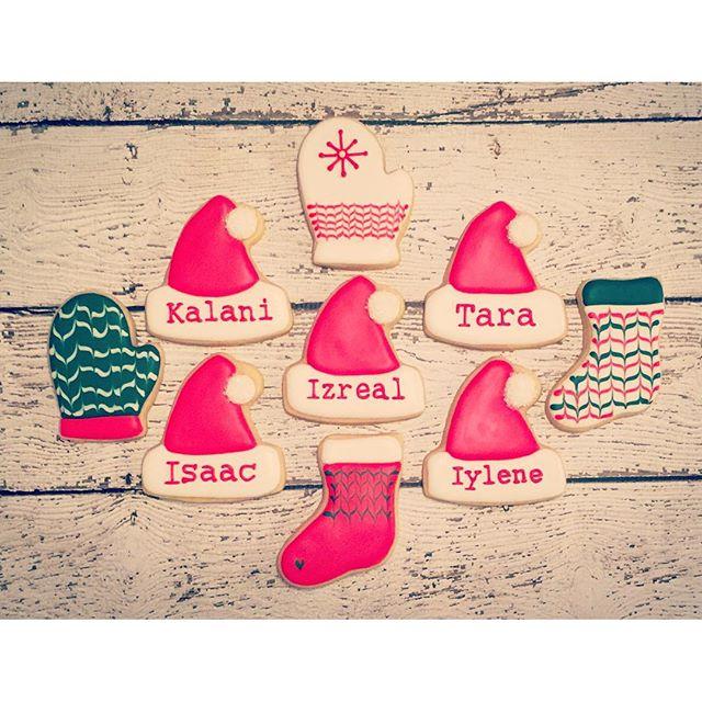 Personalized #christmascookies #customcookies #decoratedcookies #decoratedsugarcookies #royalicing #