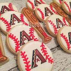 Baseball season is here!  Love our Arizona Diamondbacks! ❤️⚾️ #customcookies #decoratedcookies #deco