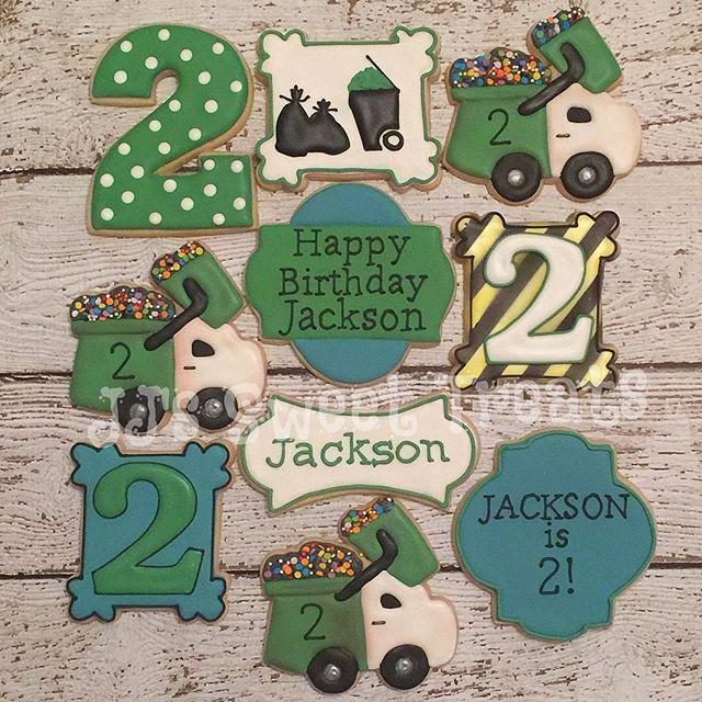 Trash truck theme for Jackson's 2nd birthday!  Truck cutter from _trulymadplastics