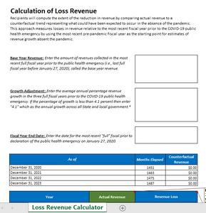 Calculate Your Town's COVID-19 Lost Revenue