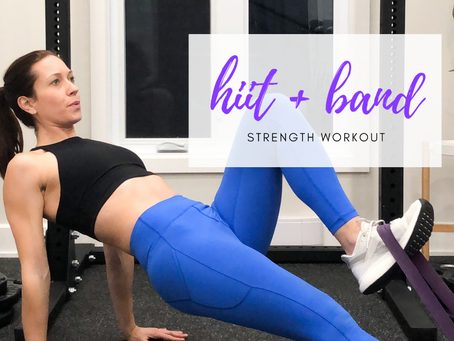 HIIT + Band Strength Workout