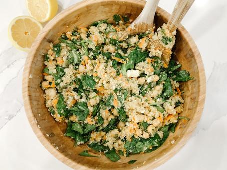 Herbed Quinoa & Chickpea Salad with Lemon-Tahini Dressing