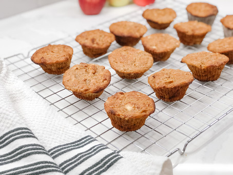 Healthy Apple Protein Muffins