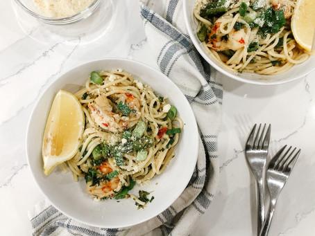Shrimp & Asparagus Angel Hair Pasta