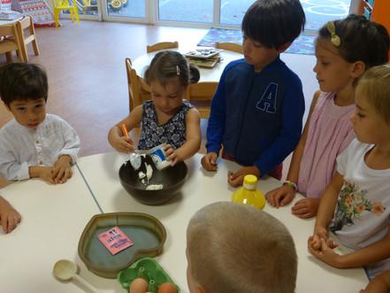 Début des ateliers cuisine en maternelle