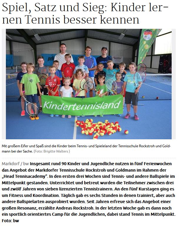 Head Tennisacademy Tenniscamp 2017