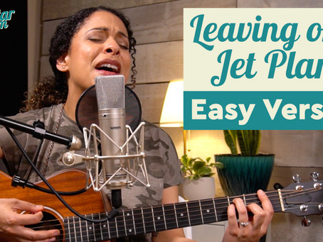 """""""Leaving on a Jet Plane"""" - Easy Guitar Lesson"""