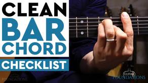 The Clean Bar Checklist - How to Play Bar Chords