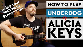 """How to Play """"Underdog"""" by Alicia Keys on Guitar"""